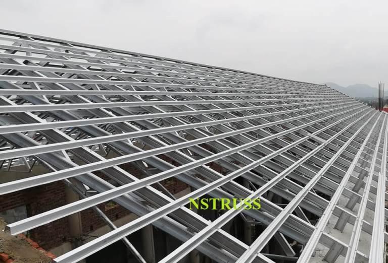Kết cấu khung kèo thép nstruss cho mái nhà thờ giáo xứ