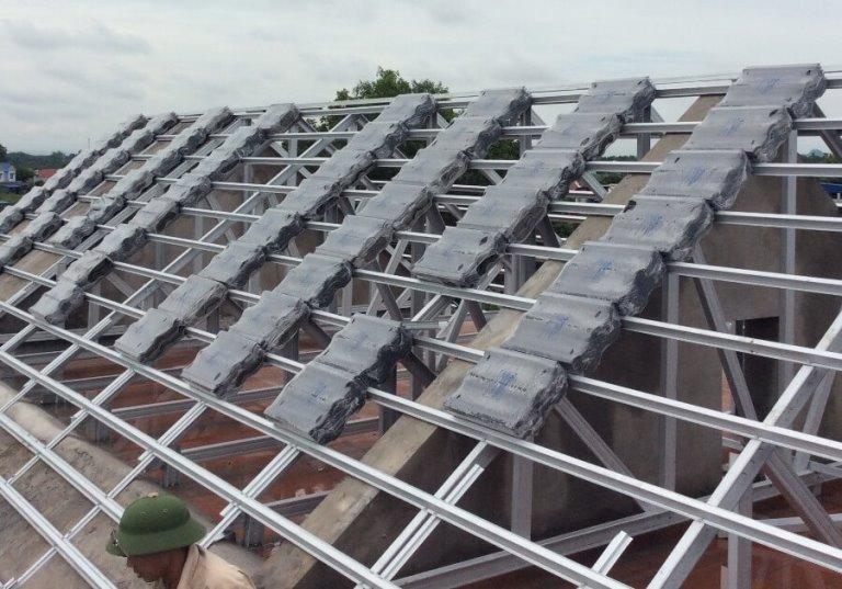 Vì kèo thép mạ cho mái nhà lợp ngói tại thái nguyên