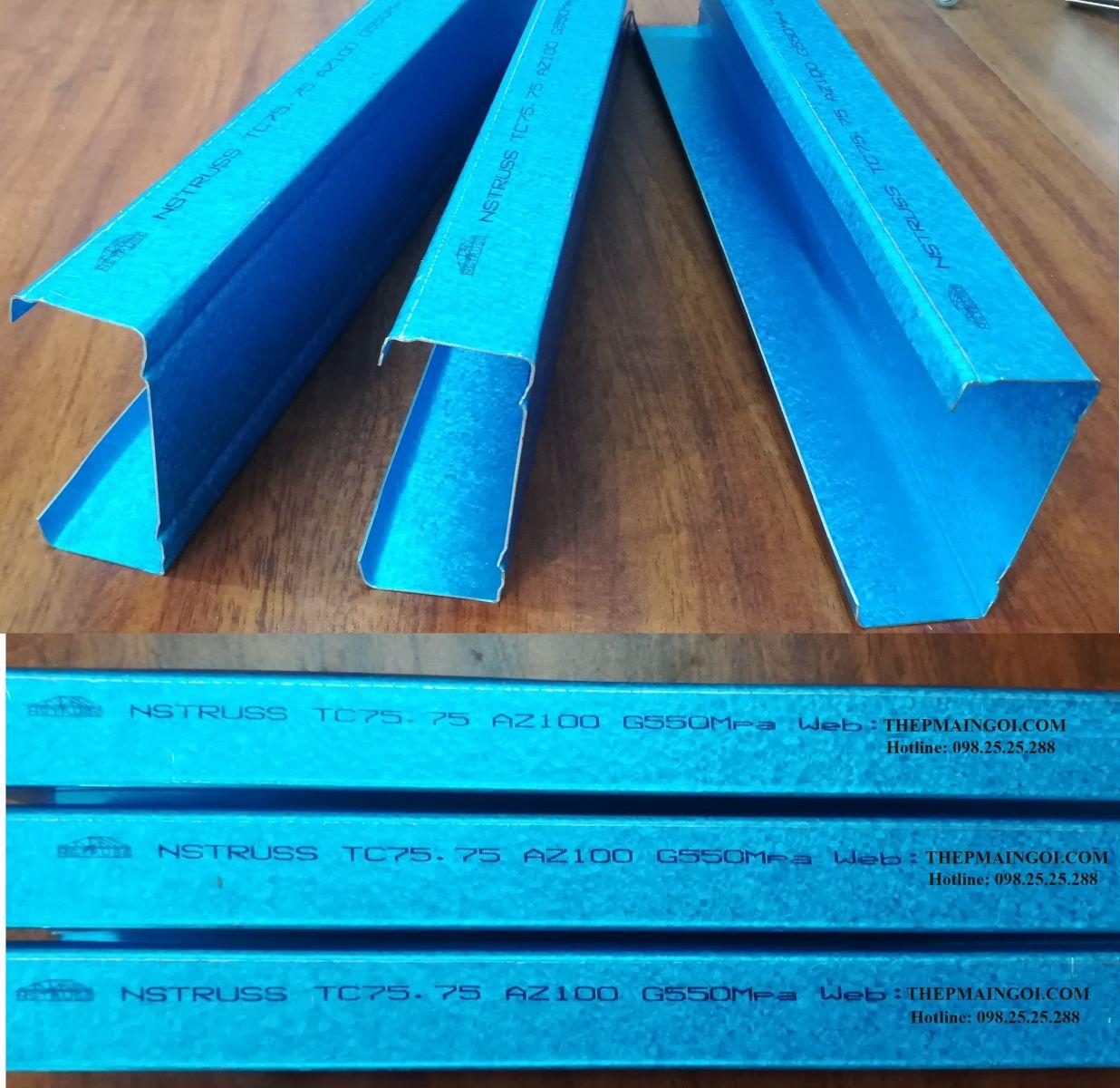 Công nghệ sản xuất xà gồ thép mạ nhôm kẽm nstruss cho mái ngói