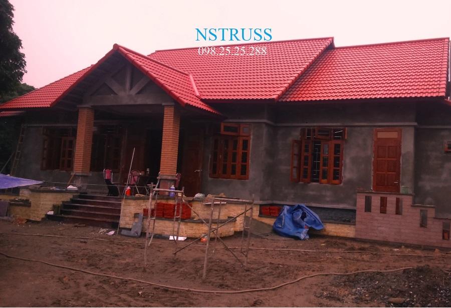 mái nhà lợp ngói màu fuji